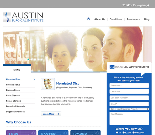 Austin Surgical Institute Website